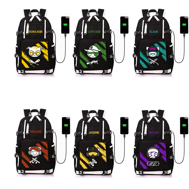 Game Persona5 Student Canvas Black School Bag Unisex Handbag Bookbag Travel Bag