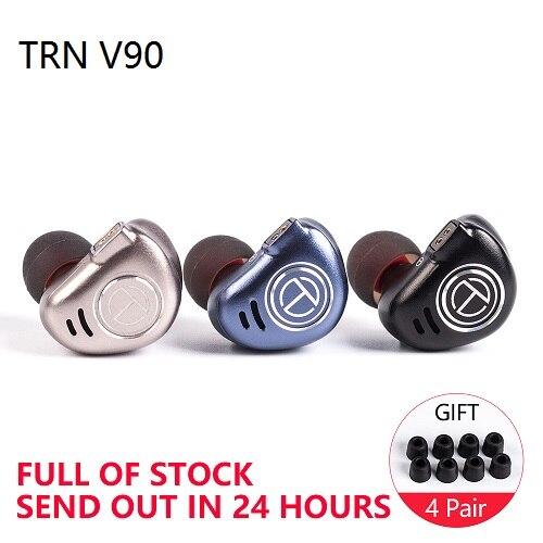 TRN-V90-4BA-1DD-Hybrid-Metal-In-Ear-Earphone-IEM-HIFI-DJ-Monitor-Running-Sport-Earphone