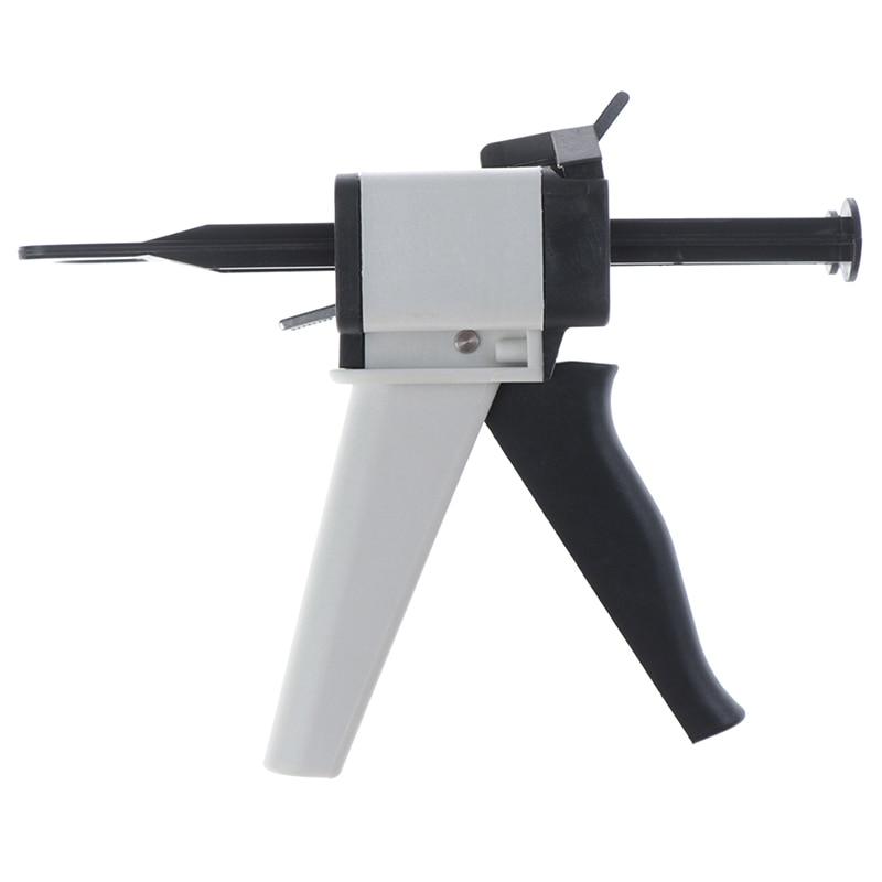 Dental Impression Mixing Dispensing Dentist Product Dispenser Gun Silicon Rubber Dispenser Gun 1:1 /1:2 50ml Teeth Care