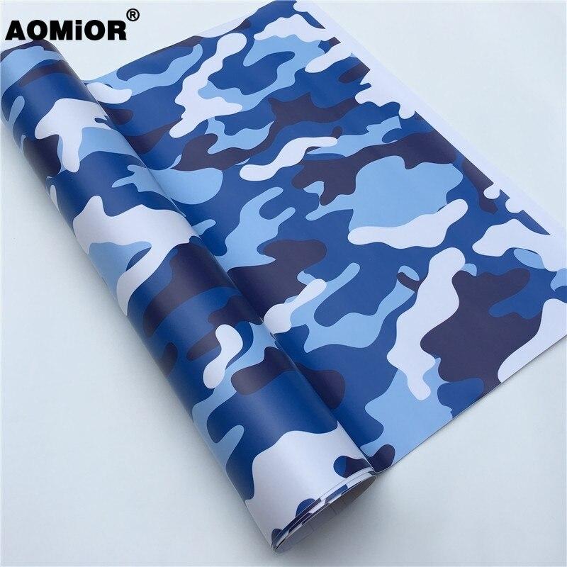 Blue Camo Vinyl Wrap  Film(11)