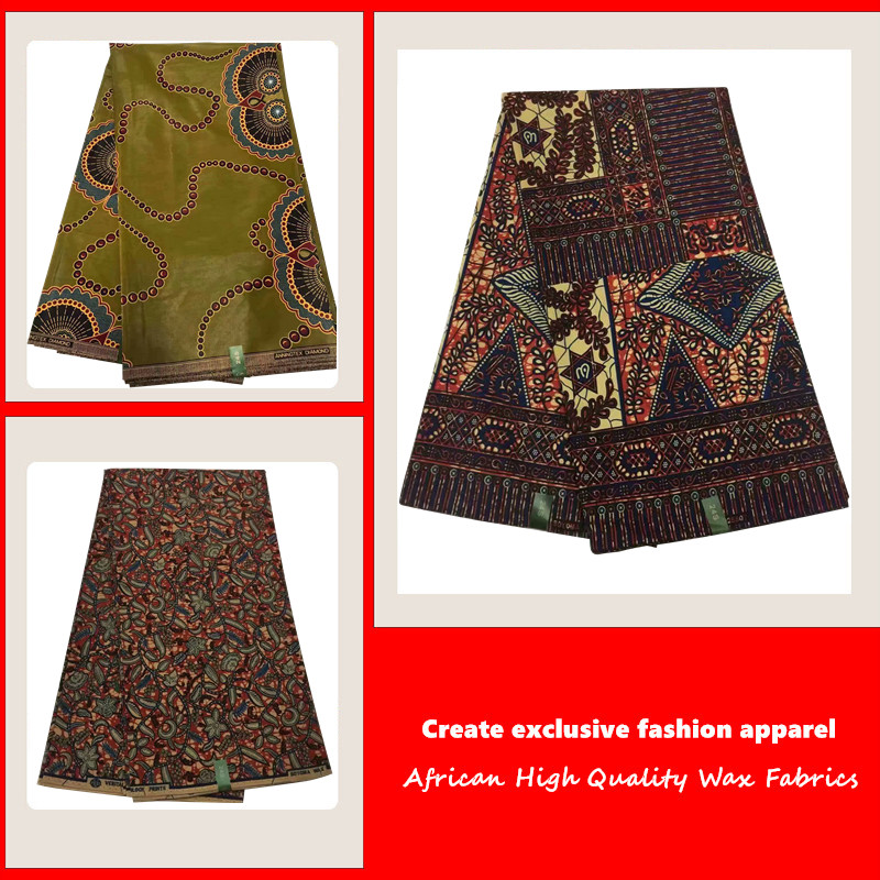 Fabrics Dutch Nigeria African Wax-Print Ankara 6-Yard High-Quality title=