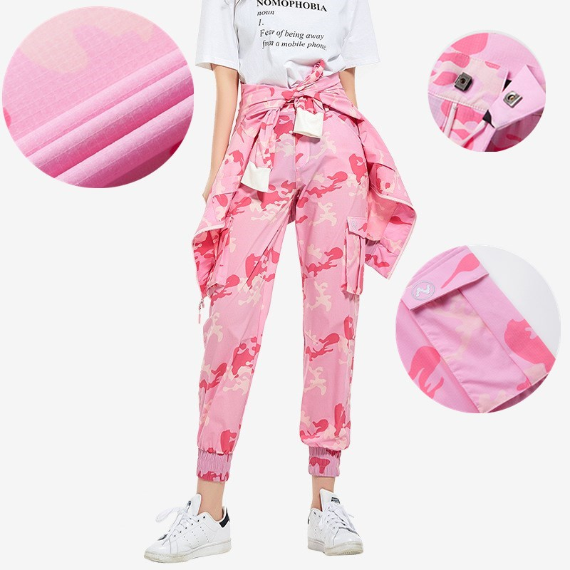 Outdoor Hiking Quick Dry Pants Women Summer Sport Breathable Thin Sunscreen Beach Trousers Female Camouflage Fast Dry Cargo Pant