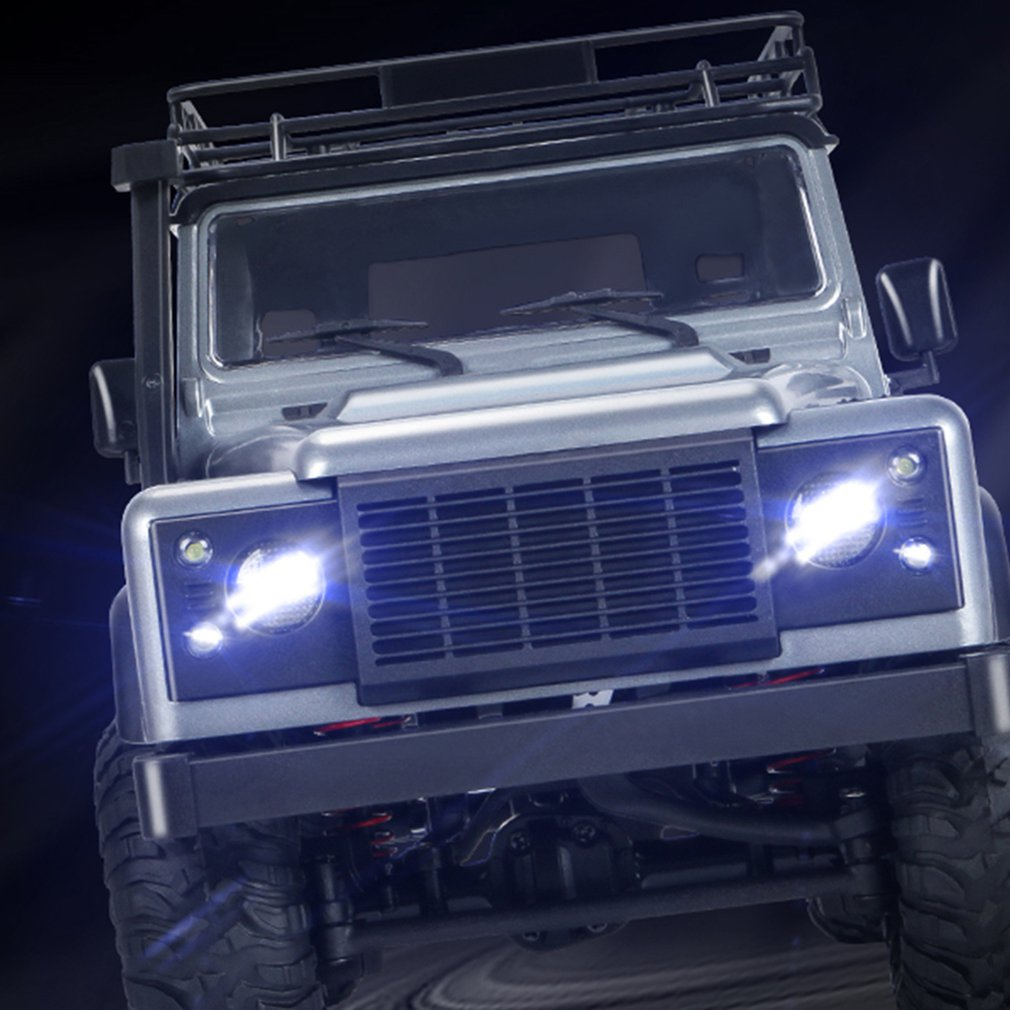 Vehicle - 2.4G Four-wheel Drive Climbing Vehicle 4WD Rechargeable Battery Crawler 1/12 LED Lights Vehicle Off Road RC Car