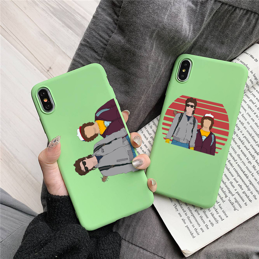 Dustin and Steve Candy Color TPU Case phone For iphoneX 7 8 XS XR XSMAX stranger things case Cover