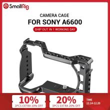 SmallRig A6600 Camera Cage for Sony A6600 With Cold Shoe Mount 1/4 Thread Holes for Microphone Flash Light DIY Options 2493