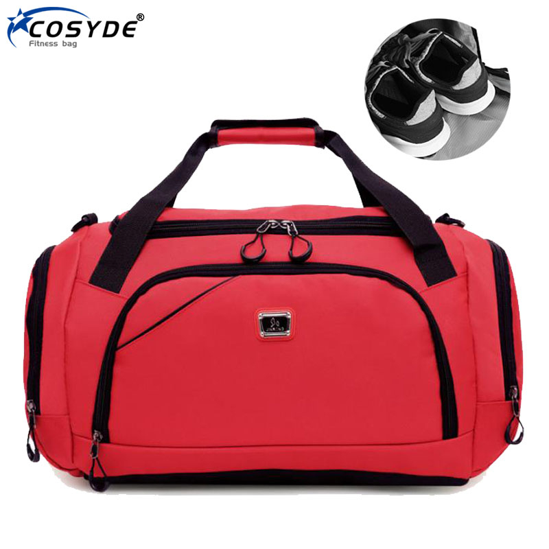 Waterproof Sport Training Gym Bag Fashion Big Women Fitness Bag For Shoe Travel Yoga Handbag Men Outdoor Sporting Tote For Male title=