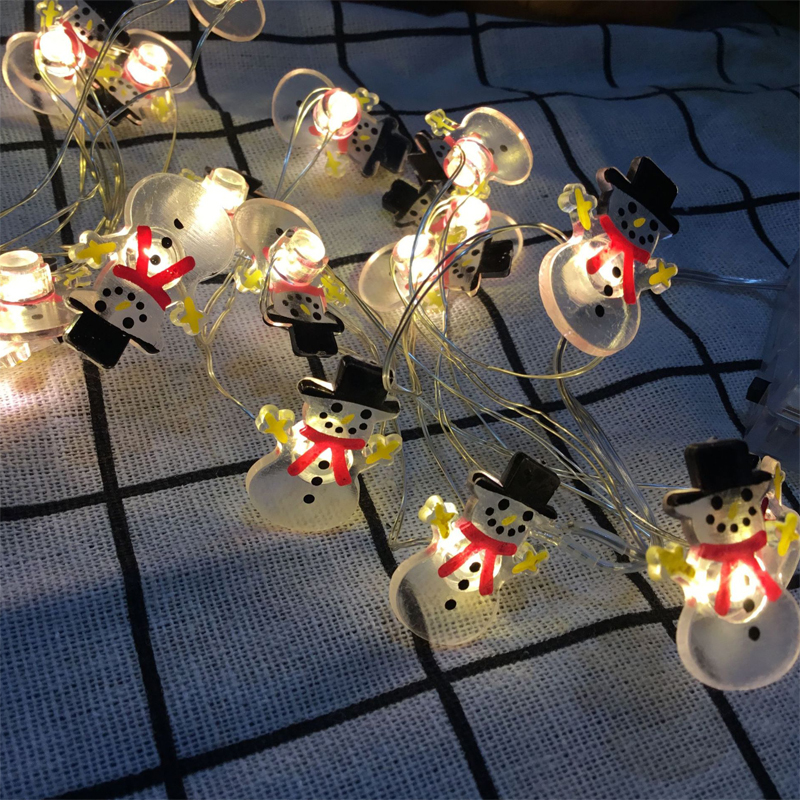 LED Garland Holiday Snowflakes String Fairy Lights Battery Powered Hanging Ornaments Halloween Christmas Party Home Decoration