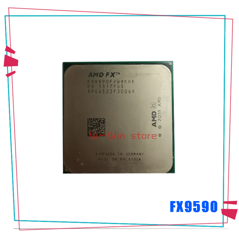 AMD CPU Processor FX FX-9590 Am3  Eight-Core Fx-Series Fd9590fhw8khk-Socket Ghz 220W title=