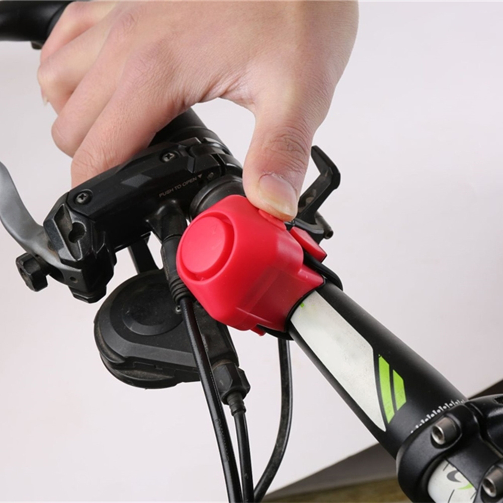 Bicycle Electric Horn 6 Sound Loud 120DB Bike Bell Ring Siren Speaker w// Clips