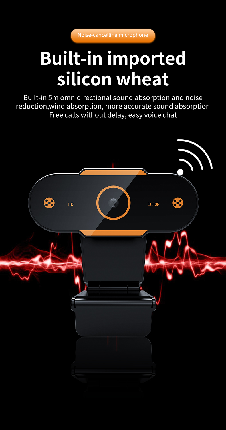 Electronics - Auto Focus 1944P HD Webcam 1080P web camera With Microphone smart Webcams for Live Broadcast Video Calling Home Conference Work