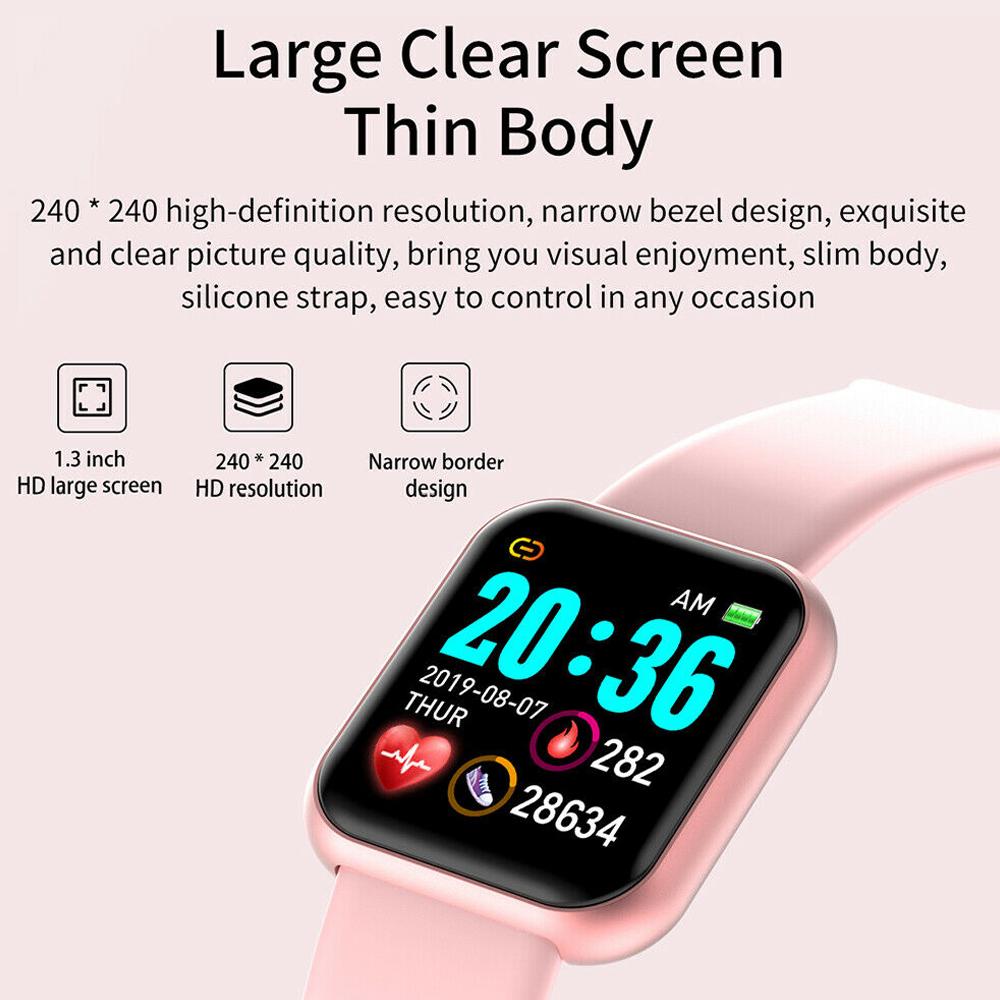Cell Phone - Smart Watch Waterproof Smartwatch For Android IOS Smart Watch Kids Men Women Heart Rate Monitor Blood Pressure Watch
