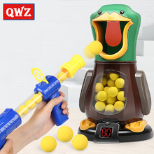 QWZ New Soft Bullet Gun Score Target Duck Kids Shooting Toys Shooter Foam Ball Air Power Gun For Children Christmas Girls Gift