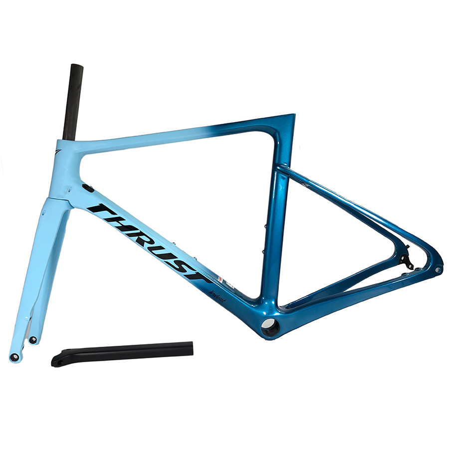 Carbon-Road-Frame Bike-Accessories Disc-Brake Bicycle-Available Blue THRUST T800-Newest title=