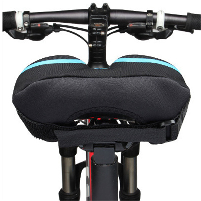 Cushion - Bike Saddle Cover, Soft Silicone Padded, Comfort Breathable Bicycle Seat Cover - for Mountain Road Bike Outdoor Cycling