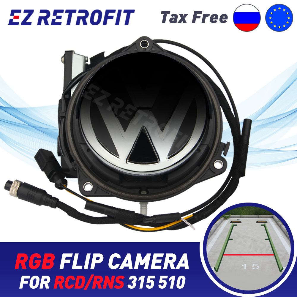 HD RNS315 RNS510 Flip Badge Rear Camera RGB Trunk Handle Emblem cam kits for VW Passat B6 B7 B8 Golf Polo MK5 MK6 MK7 EOS T-ROC title=