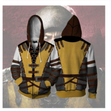 Cosplay Costumes Sweatshirt Scorpion Mortal Kombat Coat Hoodies Jackets Game Top PS4
