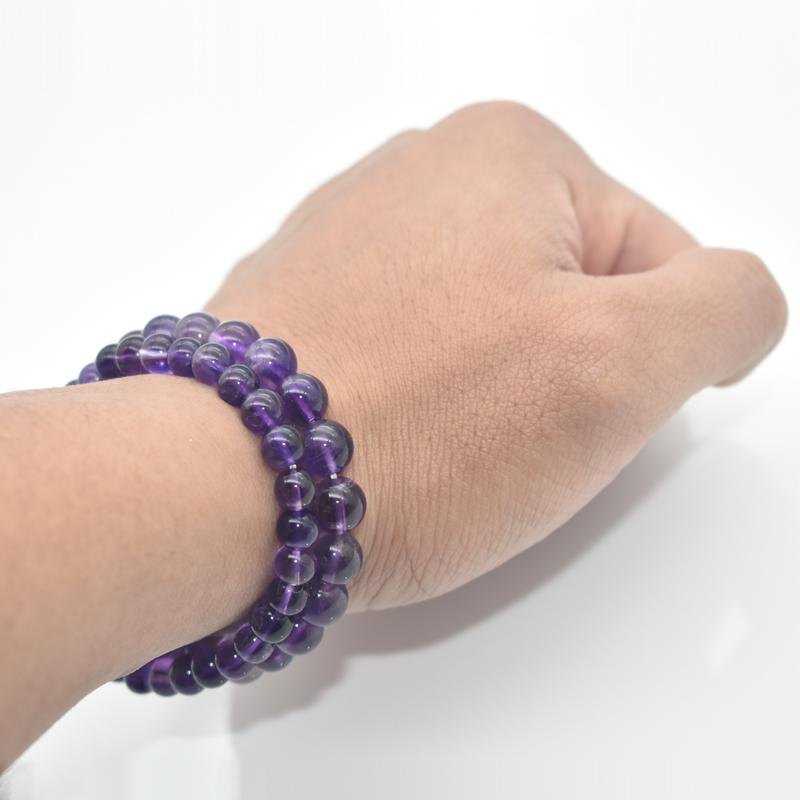Trade Insurance High Grade 6/8/10MM Natural Amethyst Bracelet