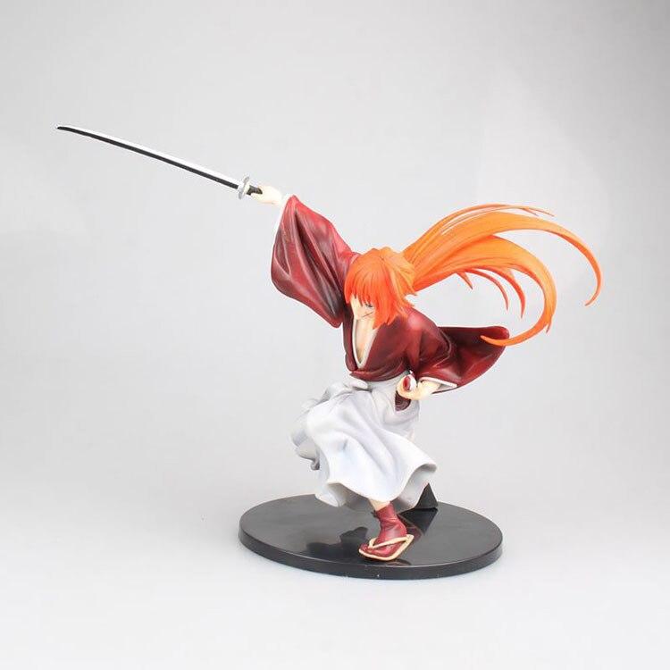 18cm Japanese classic anime figure Rurouni Kenshin HIMURA KENSHIN action figure collectible model toys for boys (6)