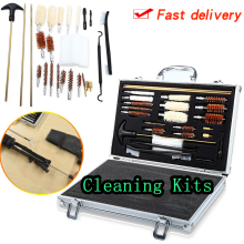 74PCS Universal Gun Cleaning Kit Pistol Hunting Rifle Shotgun Firearm Cleaner