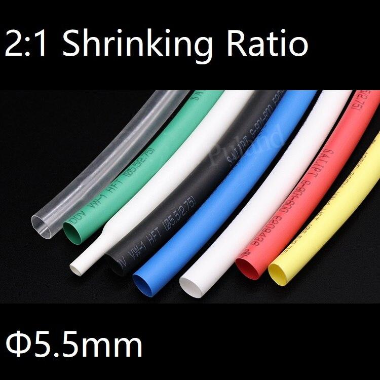 Black Heat Shrink Heatshrink End Cap Glue-Lined Tube Tubing Wrap 10mm~120mm 2:1