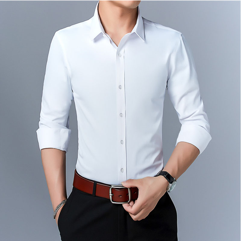men's long sleeve shirt Business Casual fashions white shirt male social shirt formal shirts for men2020 spring autumn shirt title=