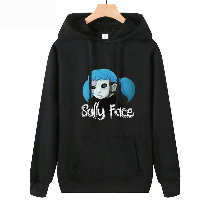 Hot Horror Anime Game Sally Face Cosplay Costume Casual Thin section 3D Print Hoodies Sweatshirt Tops Sally Face Wig Latex Mask title=
