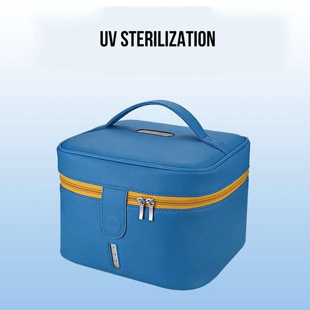 Plant - Blue Disinfecting Box UV Sterilizer Box USB Disinfecting Bag Cleaner Disinfection Cabinet Sterilization Box Storage Box