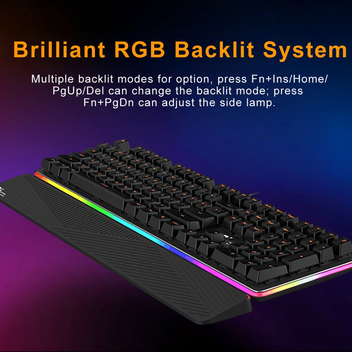 Royal Kludge RK RK919 USB Wired NKRO RGB Mechanical Gaming Keyboard Blue Switch 10
