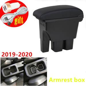 Pour Jimny 2019 2020 Accoudoirs Bo/îte Double couche Consoles main avec porte gobelets et cendrier Couche double - noirs