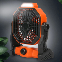 Air-Cooling-Fan for Office Home with Led-Night-Light 3-Speeds Desktop Electric Mini Portable