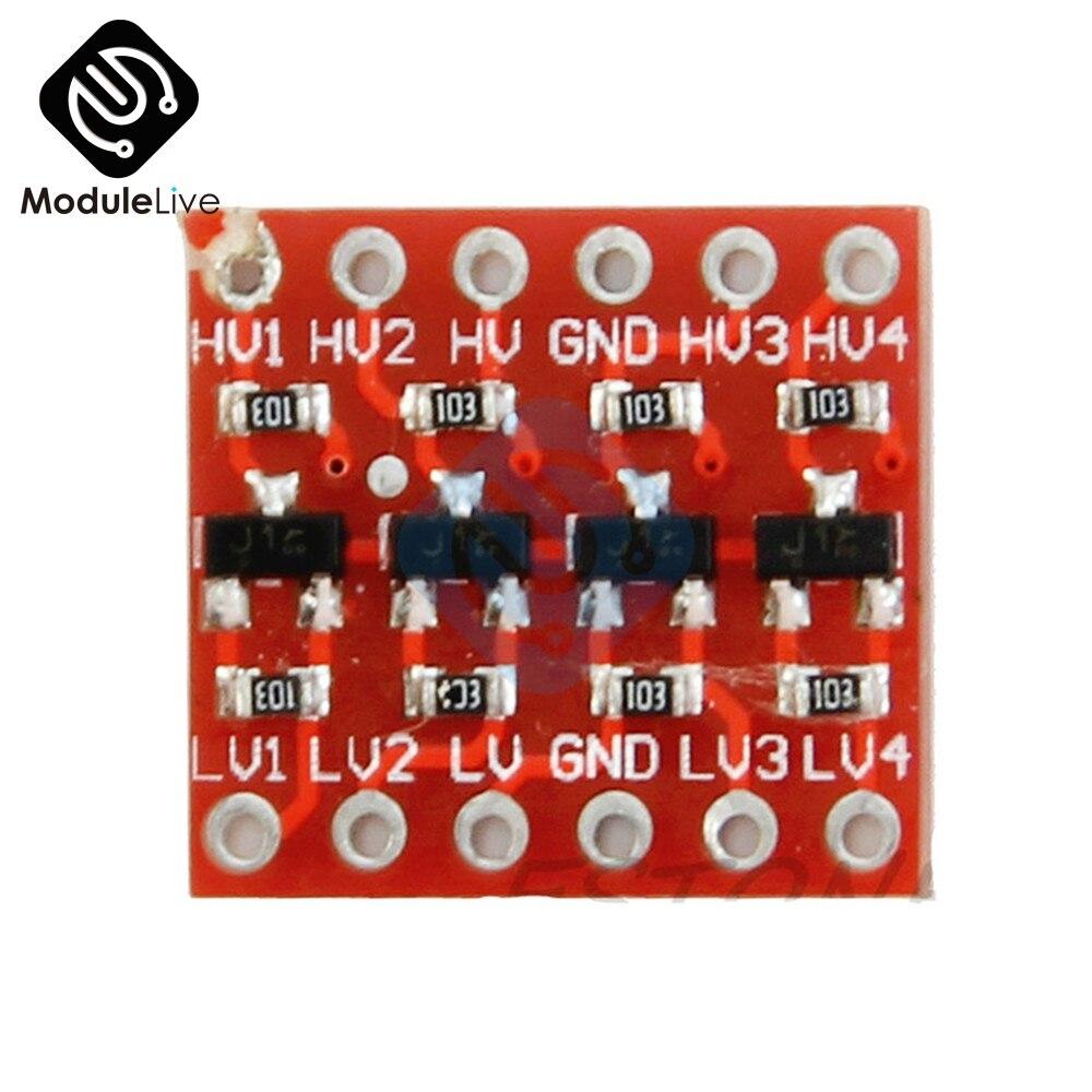 3.3V N52 2Pcs 4 Channel IIC I2C Logic Level Converter Bi-Directional Module 5V