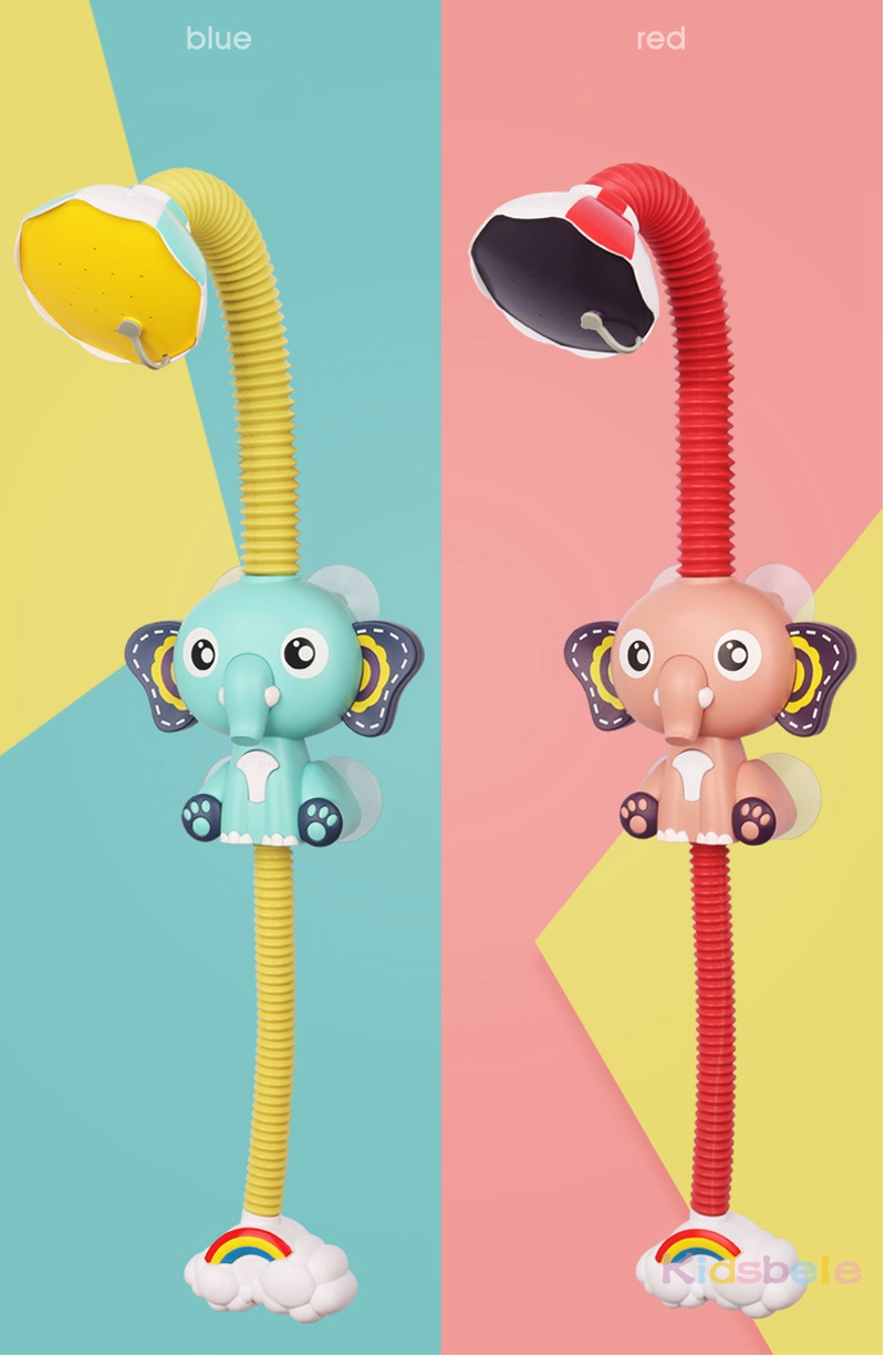 Bath Toys Baby Water Game Elephant Model Faucet Shower Electric Water Spray Toy For Kids Swimming Bathroom Baby Toys-04