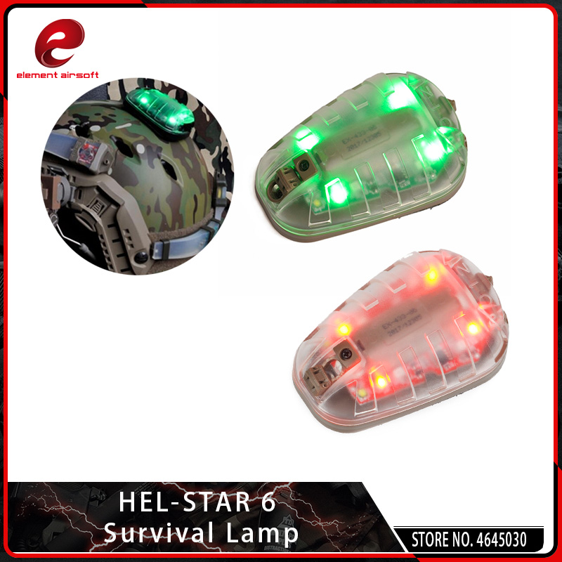 EX433-BK-GREEN Tactics Survival IR Strobe Light Waterproof Ladybird Safety Lamp