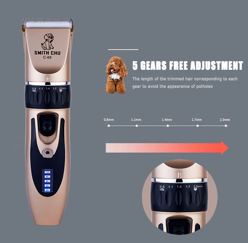 Bottle - Professional Pet Grooming Clippers Deluxe Dog Grooming Set Cordless Electric Dog Cat Grooming Trimming-Kit