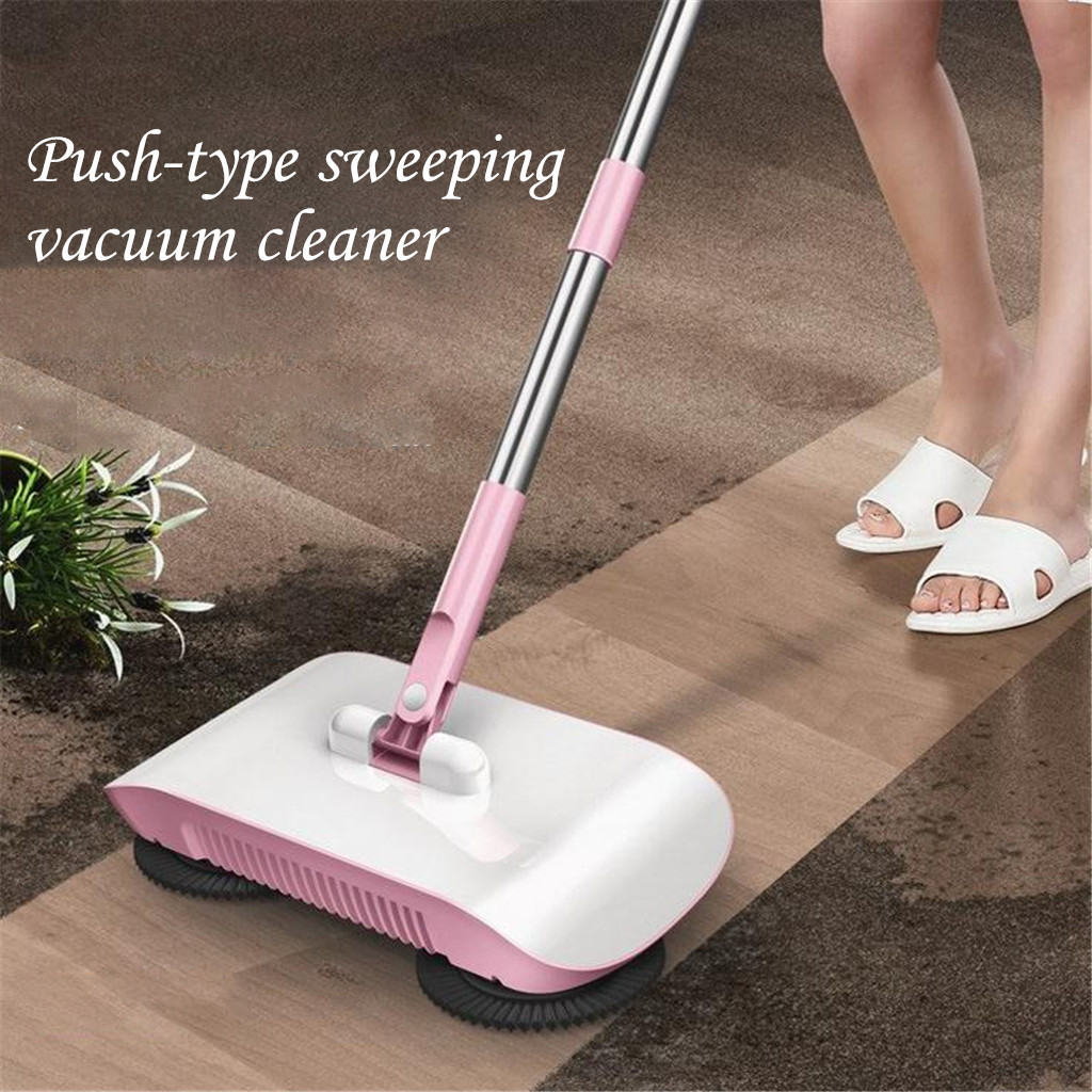 Sweeping-Machine Magic Broom Hand-Push Household Dustpan-Handle Push-Type Stainless-Steel title=