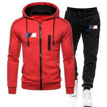 Tracksuit Pants Sportswear Winter-Sets Brand-Clothing Zipper Hoodie Two-Pieces Autumn