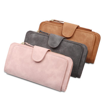 Women Wallet Female Purse Leather Wallet Long Coin Purse Card Holder Money Clutch Multifunction Carteira Feminina