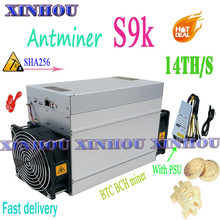 Used Asic bitcoin Miner AntMiner S9K 14T With PSU sha256 BTC BCH mining Better Than S9