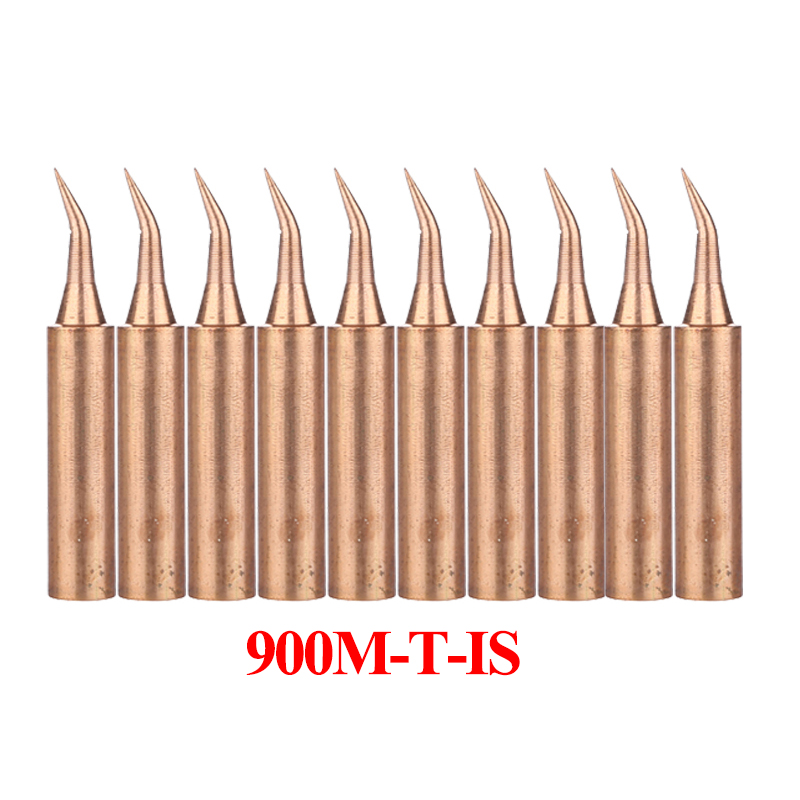 10Pcs/lot Pure Copper 900M-T Soldering Tip 900M-T-K 900M-T-I 900M-T-3.2D Soldering Iron Tip for 936 938 852D+ Soldering Station