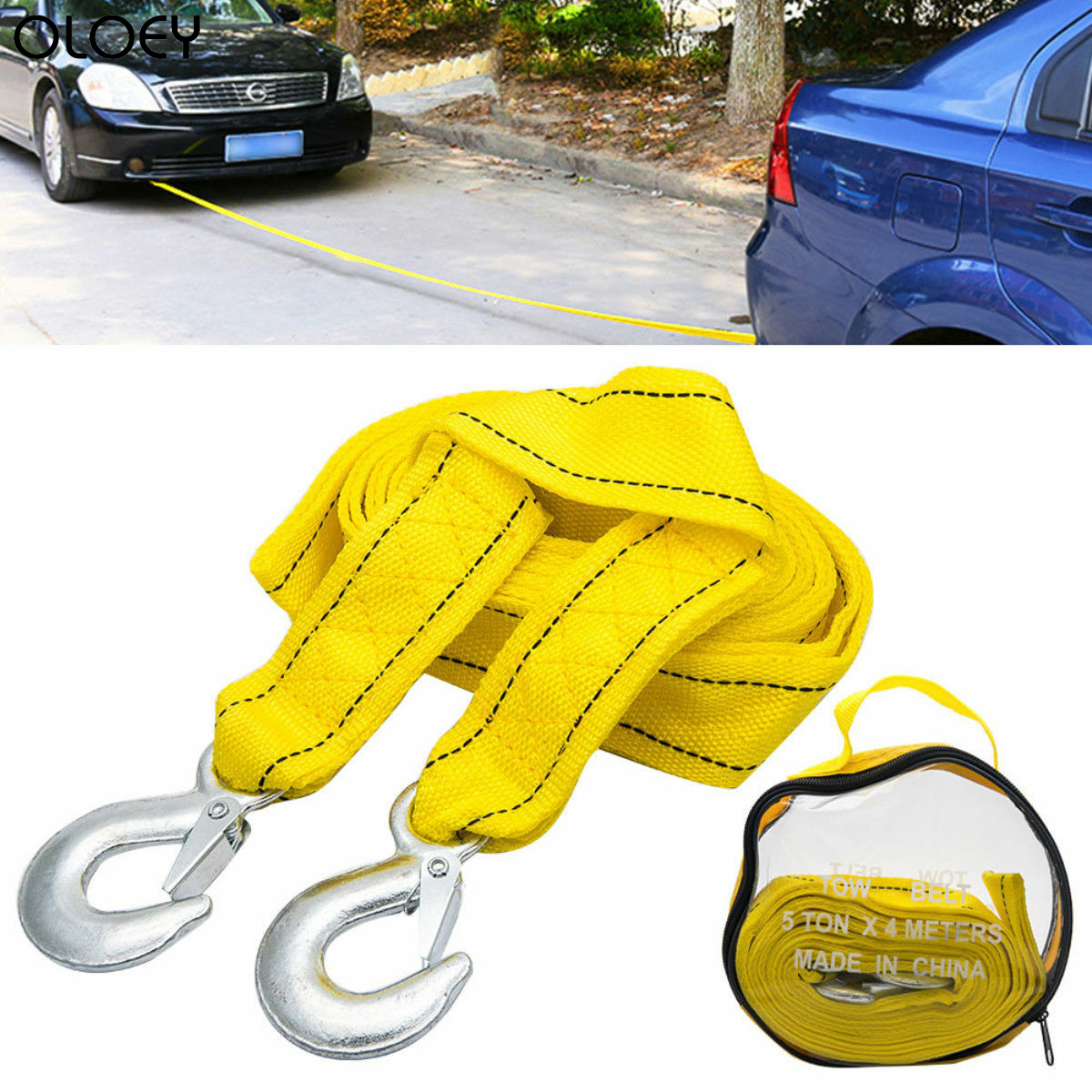 towing belt for vehicles up to 2 tonnes AA Strap-Style Tow Rope