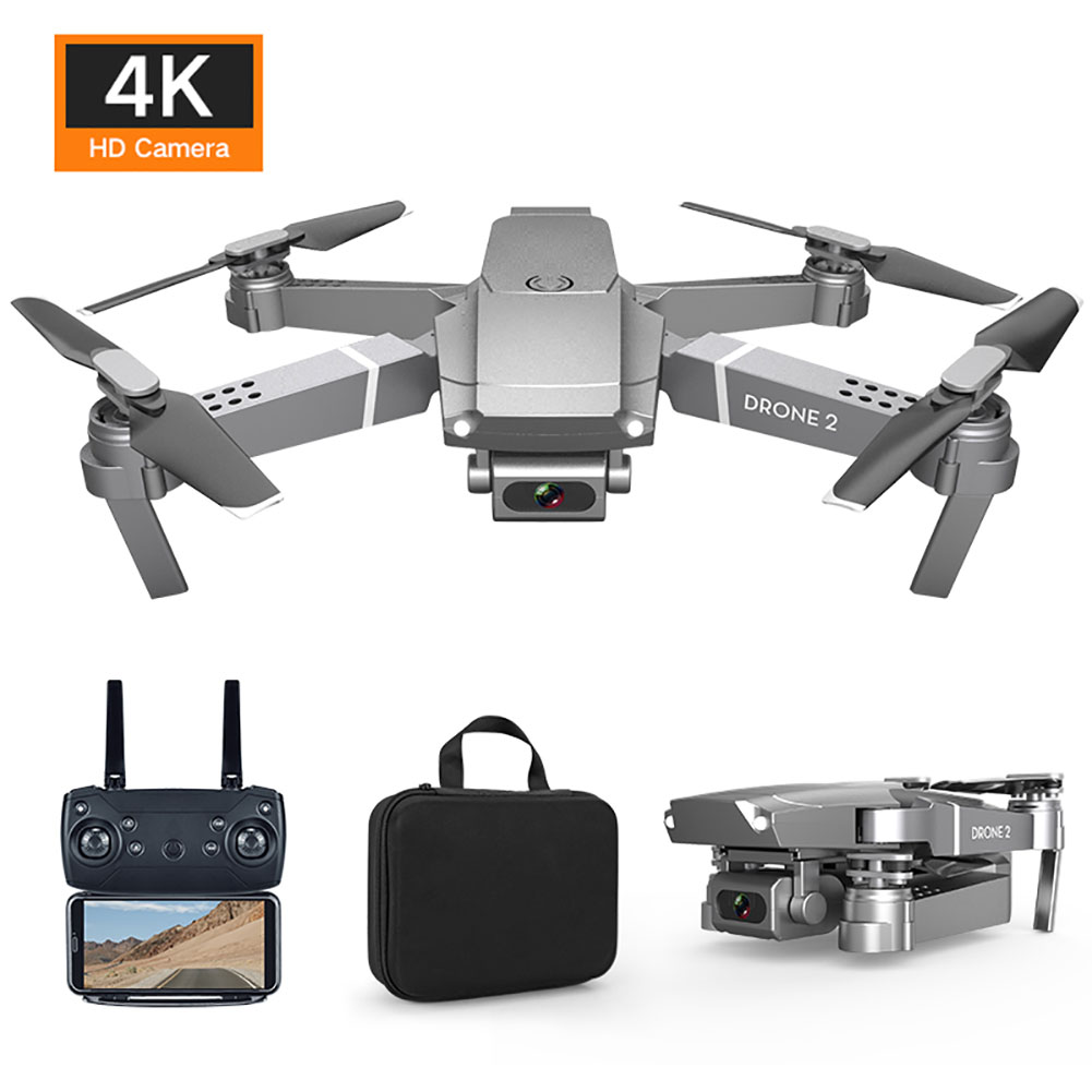 FPV Drone Quadcopter Video RC WIFI Foldable 1080P 4K New E68 with Wide-Angle HD Camera title=