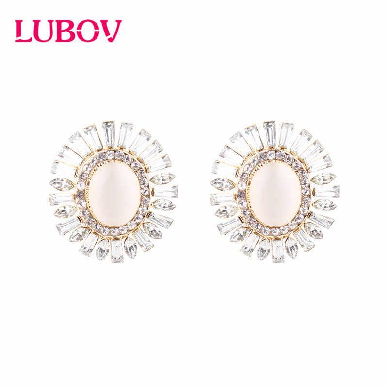 Classic Crystal Rhinestone Diamante STAR CLIP ON Stud Earrings Studs Womens Girl