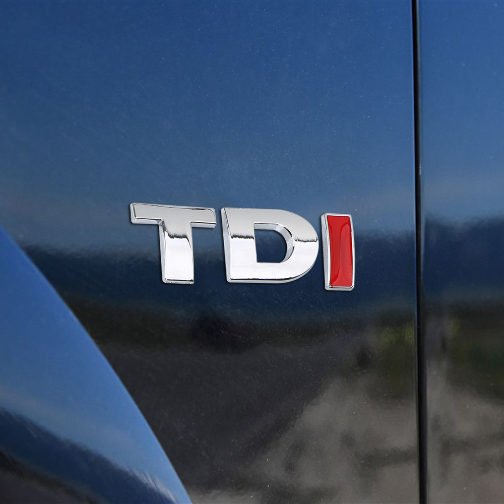 2pcs Chrome TDI Sport Edition Direct Replacement Emblem for audi