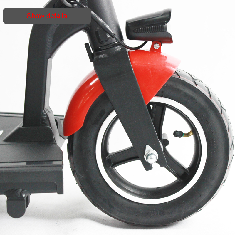 Electric Kick Scooter Adult Three Wheel Electric Scooters Tricycle 36V 300W Portable Folding Electric Elderly Scooter (6)