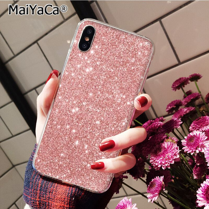 Pink Rose Gold Glitter Bling Marble Aesthetic Diamond Pearl