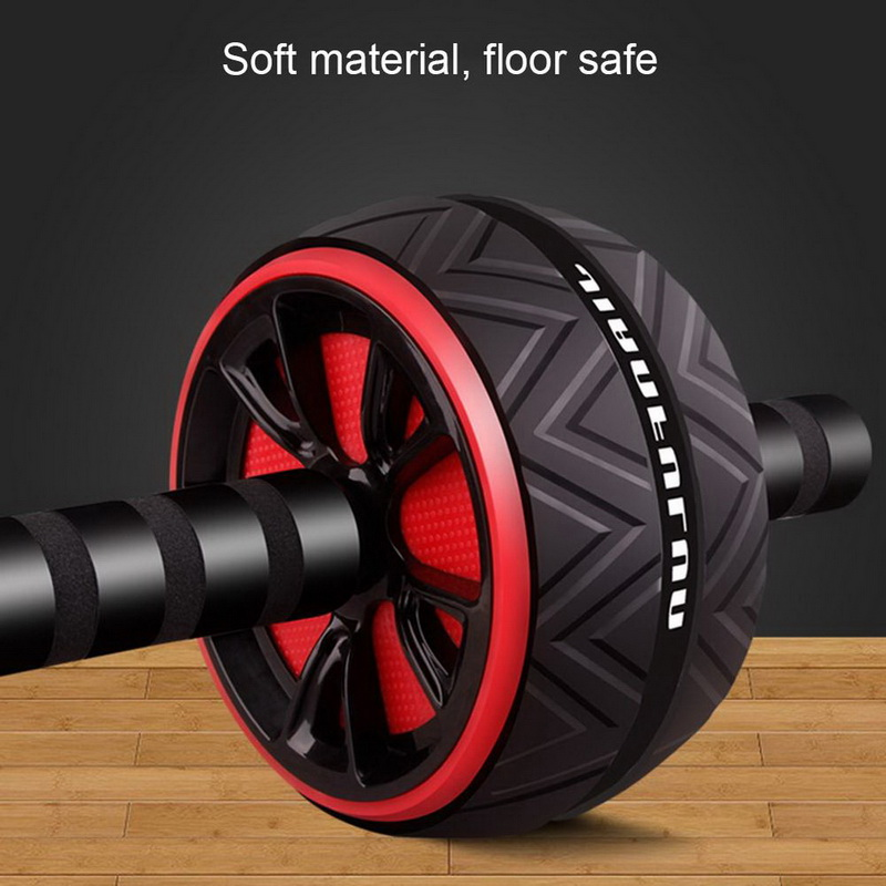 Headset - Best Large Silent Abdominal Wheel Roller Trainer Fitness Equipment Gym Indoor Home Exercise Body Building ABS Roller