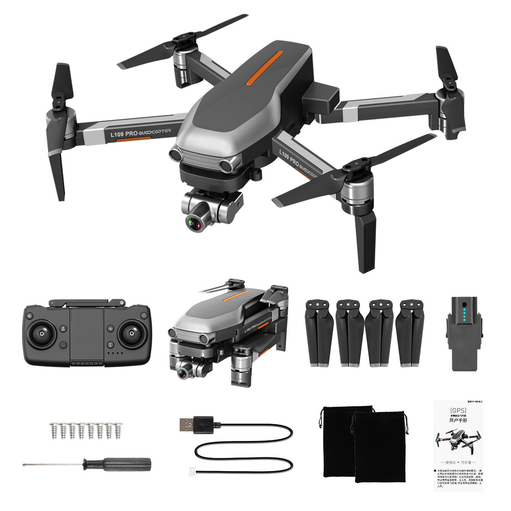 Camera - L109PRO GPS Drone 4K Quadcopter HD ESC Camera Brushless 5G WiFi FPV HD ESC Camera Brushless Helicopter Long Flight Time