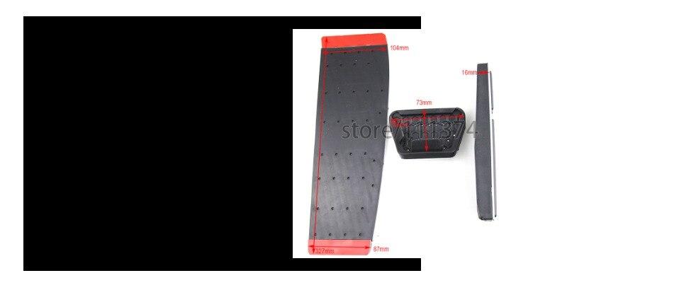 antideslizante para pedal de freno F30 F31 316i 318d 318i 320i 328i 335i 1 3 4 series LHD Pedal de freno de gas sin taladro de acero inoxidable