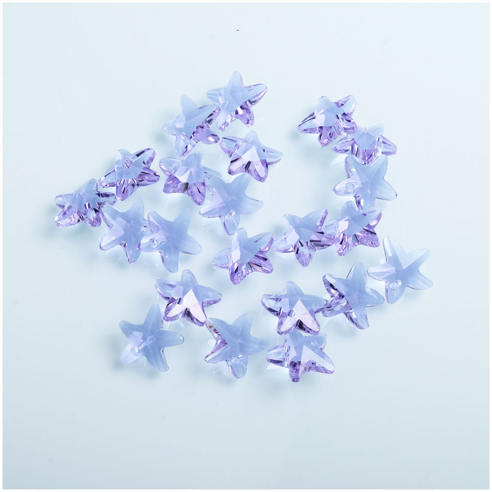 Lavender Color Crystal Beads 14mm Austria Faceted Glass Loose Beads For Jewelry DIY Making 10PCS