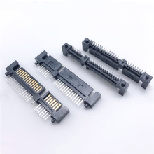 Straight-Pin-Connector Socket Male 7 Interface Hard-Disk 22pin 15P Single-Row